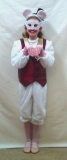 Babes mouse finale. NB White onesie not available. Waistcoat, mask, ears & hat only.